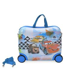 Disney Pixar Cars Kids Trolley With Belt Blue - 16 Inches