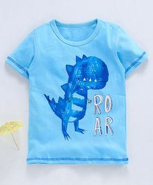 Kookie Kids Half Sleeves Tee Team Dino Roar - Light Blue