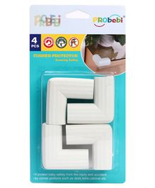 PRObebi Baby Edge Protector Pack of 4 - White
