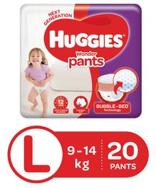 Huggies Wonder Pants Large Size Pant Style Diapers - 20 Pieces