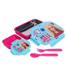 Barbie Lunch Box With Stainless Steel Inside - Blue Pink