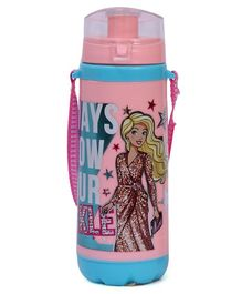 Barbie Insulated Plastic Water Bottle Always Show Your Sparkle Peach - 300 ml
