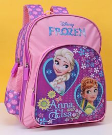 Disney Frozen School Bag Pink Purple - Height 14 inches