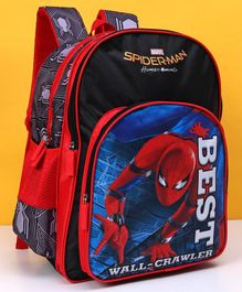 Marvel Spider Man School Bag Red & Black - Height 16 inches