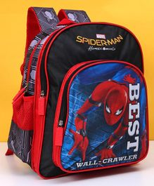 Marvel Spider Man School Bag Red & Black - Height 14 inches