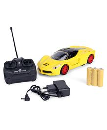 RC Car With Charger - Yellow