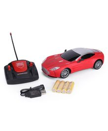 Remote Control Toy Car With Charger - Red