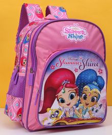 Disney Shimmer & Shine School Bag Pink  - Height 14 Inches