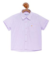 Campana Solid Half Sleeves Shirt With Front Pocket - Purple