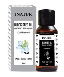Inatur Black Seed Organic And Virgin Oil Cold Pressed - 50 ml