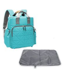 Bembika Grand Back Pack Style Diaper Bag With Changing Mat - Blue