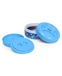 Olive Insulated Round Lunch Box - Blue
