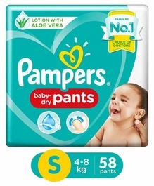 Pampers Pant Style Diapers Small Size - 58 Pieces