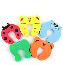 Syga Animal Shapped Foam Door Stopper Multicolor - Pack of 5