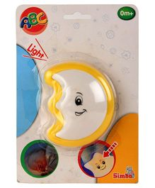 ABC Moon Shaped Night Light - White Yellow