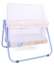 Mothertouch Jumbo Cradle With Mosquito Net - Blue