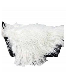 Babymoon Faux Fur Blanket Photo Prop - White