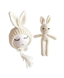 Babymoon Newborn Lovely Knitted Crochet Prop Cap and Toy - White