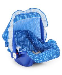 Babyhug Jade Carry Cot Cum Rocker With Safety Harness - Blue