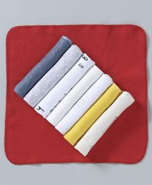 Ben Benny Wash Cloth Multi Print Pack of 7 - Multicolor