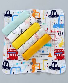 Ben Benny Wash Cloth Multi Print Pack of 6 - Multicolor