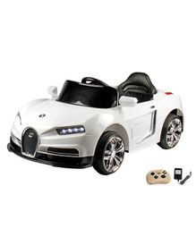 Wheel Power Battery Operated Ride On Car With Remote Control - White