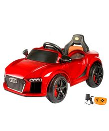 Wheel Power Battery Operated Ride On Audi Sports Car With Remote Control - Red