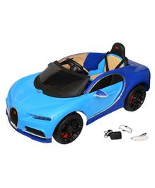 Wheel Power Battery Operated Ride On Car With Remote Control - Blue