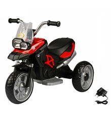 Wheel Power Battery Operated Ride On Bike - Black Red