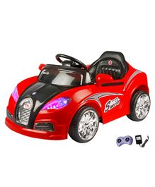 Wheel Power Battery Operated RC Ride On Car - Red
