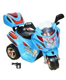 Wheel Power Battery Operated Ride On Bike - Blue