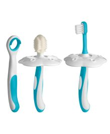Fisher Price Ultra Care Oral Hygiene Combo Kit Blue - 4 Pieces