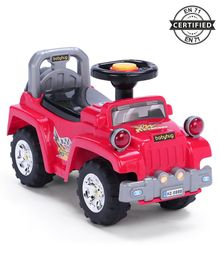Babyhug Off Roader Manual Ride On Jeep With Underseat Storage - Red
