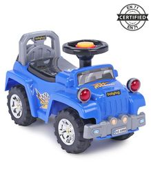 Babyhug Off Roader Manual Ride On Jeep With Underseat Storage - Blue