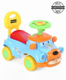 Babyhug Buddy Manual Ride On Car - Blue