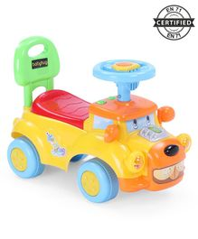 Babyhug Buddy Manual Ride On Car -Yellow