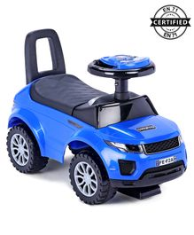 Babyhug Sporty Manual Ride On Car With Underseat Storage - Blue