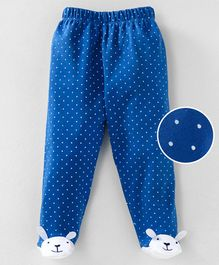 Mom's Love Polka Dotted Footed Leggings - Blue