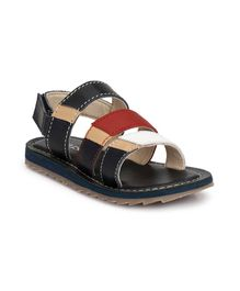 Tuskey Velcro Straps Sandals - Black