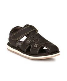 Tuskey Velcro Straps Sandals - Dark Brown
