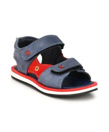 Tuskey Double Velcro Straps Sandals - Blue