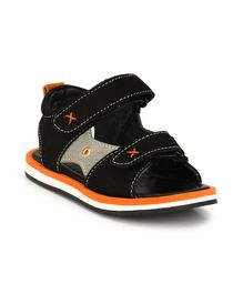 Tuskey Double Velcro Straps Sandals - Black