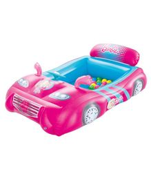 Bestway Inflatable Sports Car Ball Pit Barbie Print - Pink