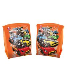 Bestway Hotwheels Cars Inflatable Swimming Arm Floats Set of 2 - Orange