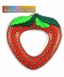 Nippon Water Filled Strawberry Shaped Silicone Teether - Red