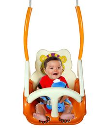 Panda 3 Stage Baby Plastic Swing - Orange