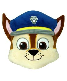 Paw Patrol Chase Face Soft Toy Cream Blue - Height 30 cm