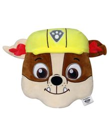 Paw Patrol Rubble Face Cushion - Brown