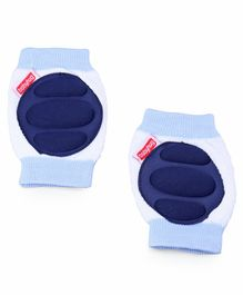 Babyhug Baby Knee & Elbow Pads -White Navy Blue