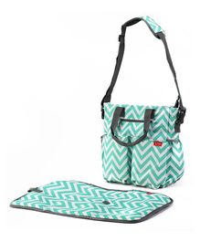 Luv Lap Adore Diaper Bag With Changing Mat - Blue